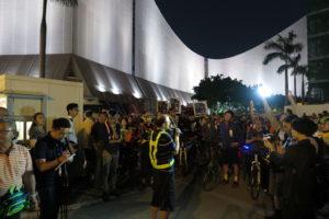 Daniel YM Chan - Ka Leung addresses crowd - 2278